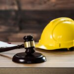 Law and Justice concept Construction law. Labor law Theme.